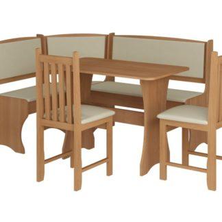 Jídelní rohový set se židlemi B, barva: olše