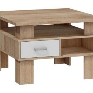 Konferenční stolek GAMMA, barva: dub sonoma/bílý lesk