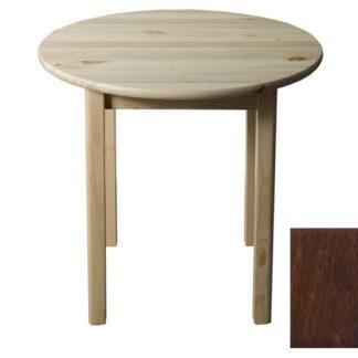 Stůl  průměr 50 cm nr.3, masiv borovice/moření ořech