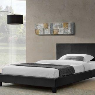 NADIRA čalouněná postel s roštem 160x200 cm, černá