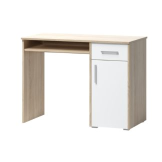 PC stůl ARTA 15, dub sonoma světlý/bílý mat