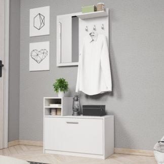LUNA předsíňová stěna, bílý mat