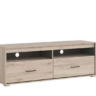 RONSE televizní stolek RTV2S, dub san remo světlý/šedý wolfram