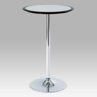 Barový stůl AUB-6050 BK, černo-stříbrný