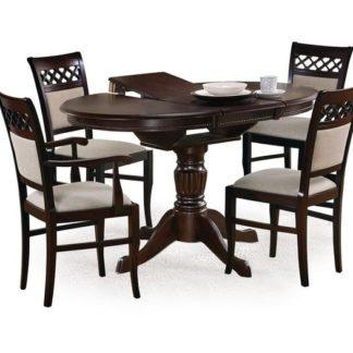 Jídelní stůl rozkládací WILLIAM, ořech tmavý