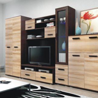 ORION, obývací stěna, wenge/jilm včetně LED