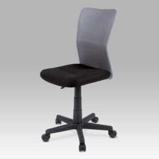 Dětská židle BORIS, černá / šedá