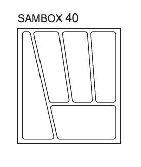 Pořadač do zásuvek SAMBOX, 40 cm