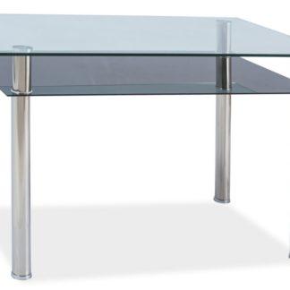 Jídelní stůl MADRAS 90x60, sklo/chrom
