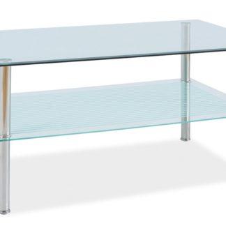 Konferenční stolek PIXEL B 110x60, kov/sklo