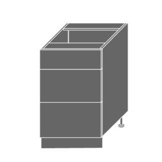 PLATINUM, skříňka dolní D3m 50, korpus: grey, barva: white