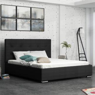 Čalouněná postel SOFIE 1 140x200 cm, černá látka