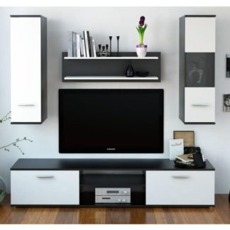 WAW obývací stěna, černá / bílá