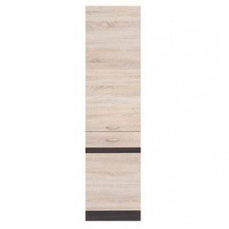 JUNONA LINE, skříňka 195 cm, pravá, dub sonoma