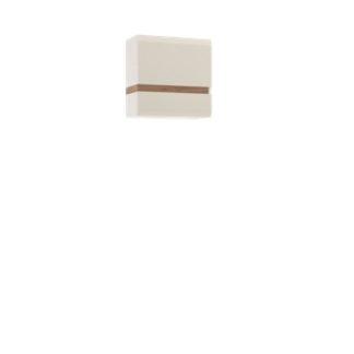 LINATE/66, skříňka 1D, alpská bílá/trufla