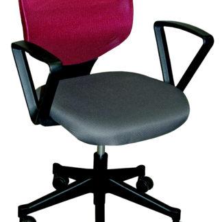 Manažerská židle VERA, šedá/vínová