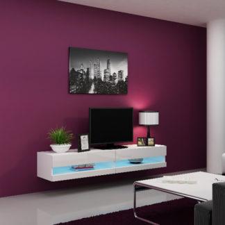 "Televizní stolek VIGO NEW ""180"", bílá/bílý lesk"