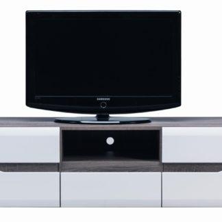 LI 1 - Televizní stolek LIONEL LI 1, dub sonoma truflový/bílý lesk