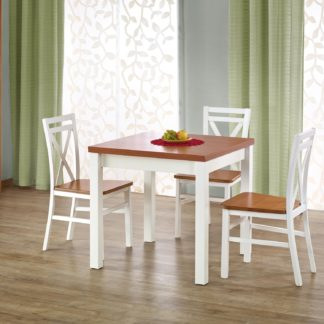 Jídelní stůl rozkládací GRACJAN, olše/bílá