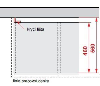 Příslušenství - Krycí lišta DBZ10/82, korpus bílá alpská