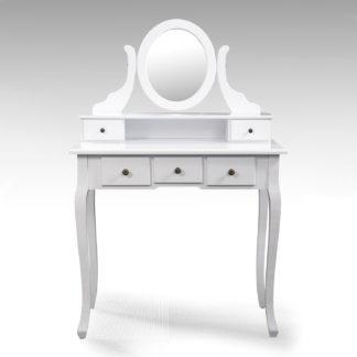 Toaletní stolek se zrcadlem STELLA, bílá