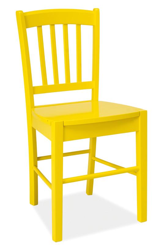 Jídelní dřevěná židle CD-57, žlutá
