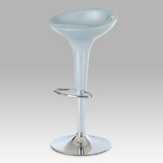 Barová židle stříbrná/plast chrom AUB-9002 SIL