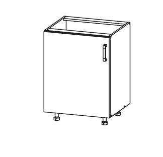 FIORE dolní skříňka D60, korpus wenge, dvířka bílá supermat