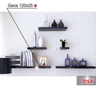 GANA police 120x25 cm, černý lesk