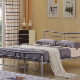 DORADO kovová postel s roštem 180x200 cm, stříbrný kov