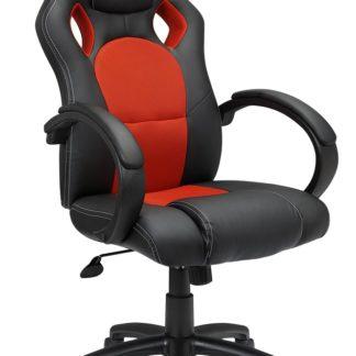 122010 - Kancelářské křeslo ADK SPERO, černá + červená ekokůže