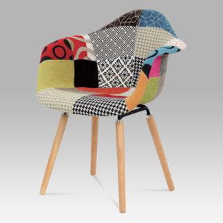 Jídelní židle CT-723 PW2, patchwork / natural