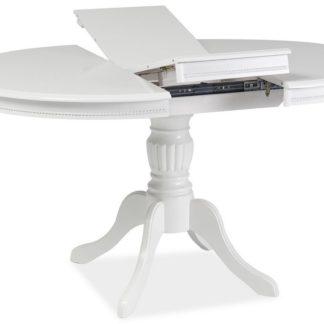 Jídelní stůl OLIVIA rozkládací, bílý