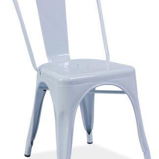 Jídelní kovová židle LOFT, bílá