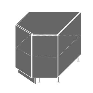 EMPORIUM, skříňka dolní rohová D12R 90, korpus: lava, barva: light grey stone