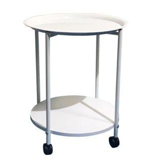 DERIN odkládací stolek, bílá