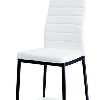 Jídelní čalouněná židle H-261 BIS C, bílá/černá