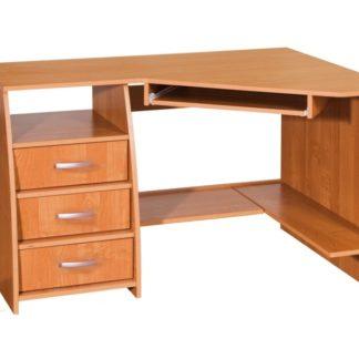 PC stůl se šuplíky SEVILLA 3, levý, barva: