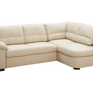 Kožená rohová sedačka AROSA, krémová, pravá