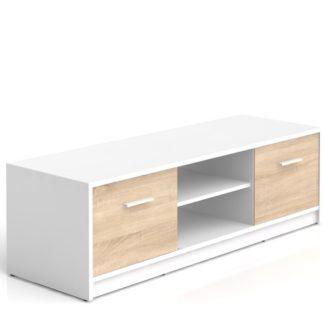NEPO, televizní stolek RTV2D, bílá/dub sonoma
