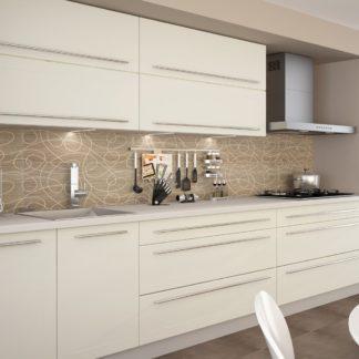 Kuchyně QUANTUM, vzorová sestava, vanilla mat/grey