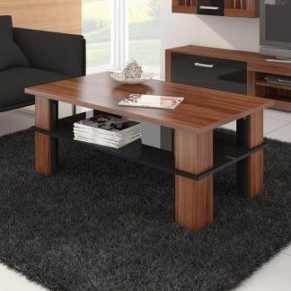 Konferenční stolek FUTURA 2, švestka wallis/černý lesk