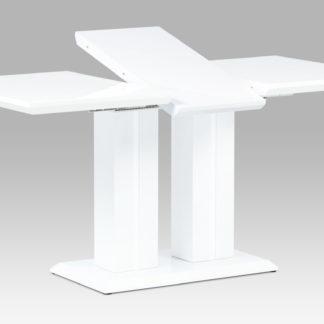 Jídelní stůl, vysoký lesk bílý HT-869 WT