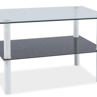 Konferenční stolek DORIS, sklo/bílá