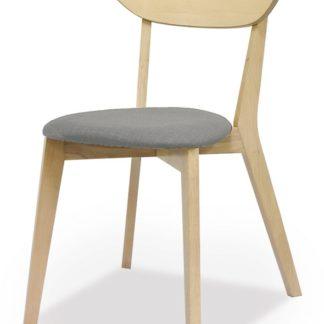 Jídelní čalouněná židle NARVIK, šedá/bělený dub