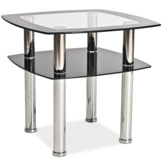 Konferenční stolek RAVA D, kov/sklo