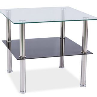 Konferenční stolek TESSA 60x60, kov/sklo