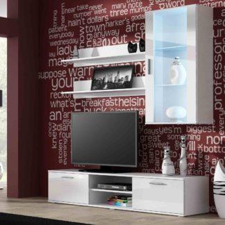 SOHO, obývací pokoj - sestava 2, bílý mat/bílý lesk