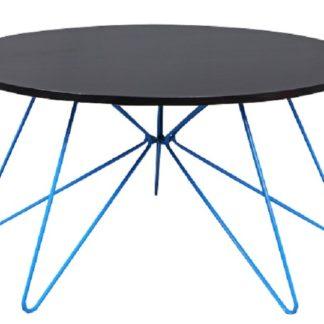 MIKKEL konferenční stolek, černý dub/modrá