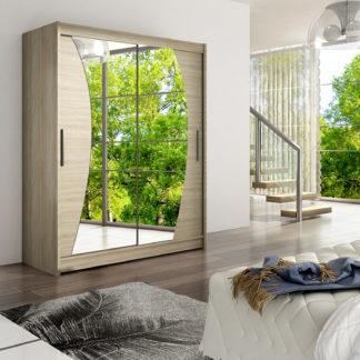 Šatní skříň WESTA X, dub sonoma/zrcadlo